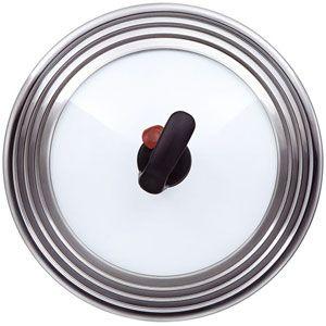 Крышка Rondell MSUFVK 22-28 см, стекло, паровой клапан