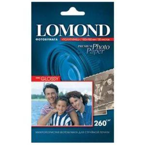 Фотобумага Lomond 10x15 260г/м,20л., полуглянцевая
