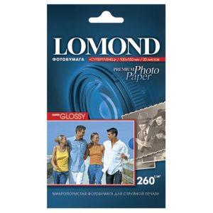 Фотобумага Lomond 10x15 260г/м,20л., суперглянцевая