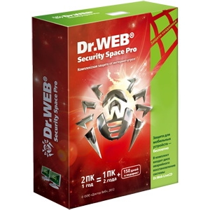 Антивирусная программа Dr. Web Security Space PRO 2ПК на 1 год