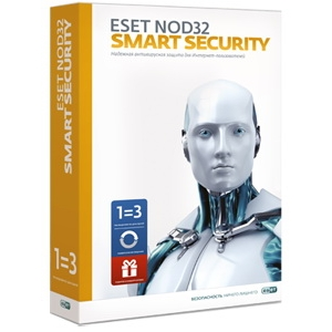 Антивирусная программа ESET NOD32 Smart Security 3 ПК на 1 год или продление