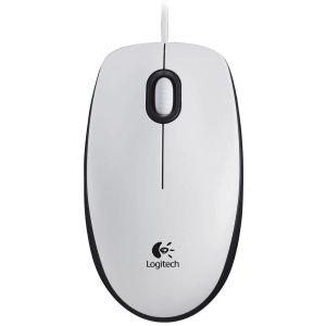 Мышь проводная Logitech Mouse M100 White USB