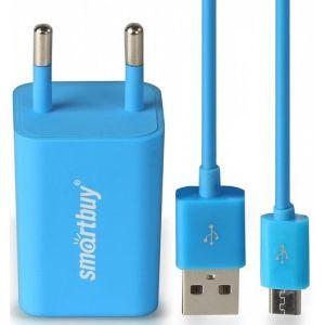 Сетевое зарядное устройство SmartBuy SBP-3150 TRAVELER Combo blue