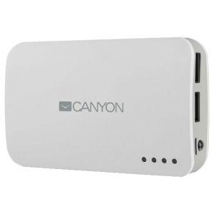 Портативный внешний аккумулятор Canyon CNE-CPB78 white