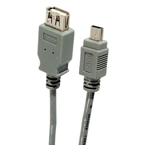 Кабель Belsis USB A розетка - Mini USB 5P 0,5 м