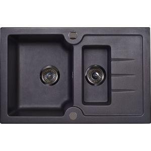 Кухонная мойка Kuppersberg MODENA 1B1D BLACK METAL