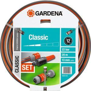 """Шланг садовый Gardena Classic 1/2"""" 20м 5 предметов (18004-20.000.00)"""